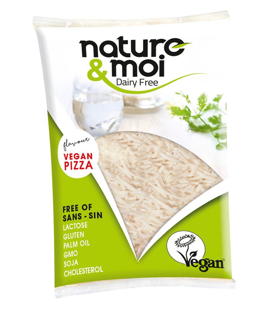 grated vegan pizza